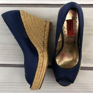 Boutique 9 Blue Wedge Shoes